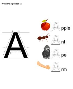Letter Writing, Alphabets Writing Worksheets, Alphabets Worksheets. English Worksheets for Preschoolers.