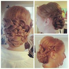Cotillion updo! #weddinghair #updo #braids