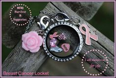 Breast Cancer themed locket