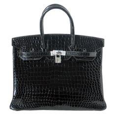 Hermes Birkin; crocodile with diamonds...sigh...