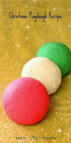 Christmas Playdough Recipe - How to make super soft playdough that captures the essence of Christmas!