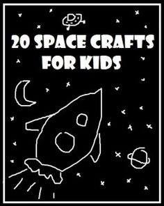 space crafts for kids - these space crafts would make a great addition to any space lesson plans. Wonderful ideas to make with the kids. Check out the great Space Book list linked too!