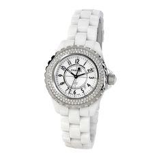 Used Chanel Ladies' J12 Diamond Watch In White - Beyond the Rack