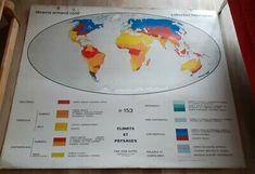 Les Meilleures Offres Pour Ancienne Carte Scolaire Planisphere Climats Et Paysages N 153 Henri Varon Sont Sur Ebay Comp Carte Scolaire Planisphere Scolaire