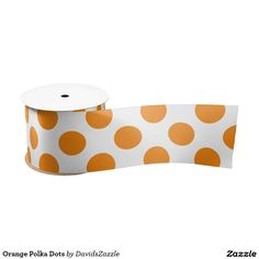 Orange Polka Dots Ribbon This design is available on many products! Click the 'available on' tab near the product description to see them all! Thanks for looking!  @zazzle #art #polka #dots #pattern #wrapping #paper #gift #bag #tag #birthday #holiday #color #black #white #blue #green #orange #yellow #purple #aqua #shop #buy #fun #chic #wrap #modern #classic #simple #easy #design #tag #ribbon #tissue