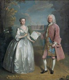 Henry Ingram, 7th Viscount Irwin (1691–1761), and His Wife Anne (c.1699–1766), c.1745,  by Philippe Mercier