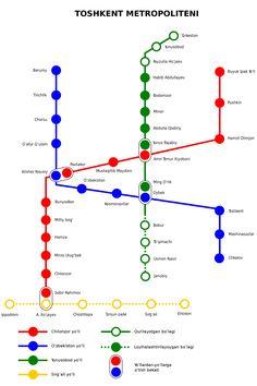 El #Metro de #Tashkent es el primer sistema de metro y transporte público de alta capacidad en Asia Central. Hay sólo 2, el otro, en la ciudad de Almaty. Esta sistema da servicio a la moderna ciudad de Tashkent, capital de Uzbekistán, desde el año 1977. Lo que hace que este sistema singular es la hermosa arquitectura de sus estaciones y la profundidad de sus estaciones, ya que es un sistema muy poco profundo. Fue el séptimo sistema de metro construido en la URSS. Se compone de tres líneas…