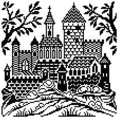 Castle 1. cross stitch pattern. Instant download.