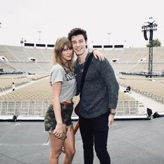 Friends: Taylor Swift, and fellow singer Shawn Mendes, posed on the stage prior to her concert at the Rose Bowl in Pasadena, California Friday Shawn Taylor, Taylor Alison Swift, Shawn Mendes Taylor Swift, Bruno Mars Taylor Swift, Shawn Mendes 3, Shawn Mendes Concert, You Are The Greatest, Johny Depp, 1989 Tour