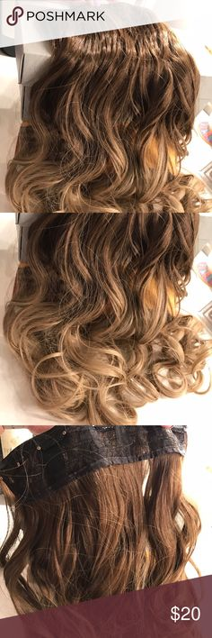 Ombré hair extensions One piece hair extension product is like pic it's a 5 weft hair extension is synthetic hair never used just took out of package 💕💕💕💕💕💕 💌Fast Shipping  🚭Smoke Free home  ✅Always Clean & Packaged Well 📦 Bundle To save more 💰 💳 I Consider All Reasonable Offers 💕 🚫Sorry No Trades Accessories Hair Accessories