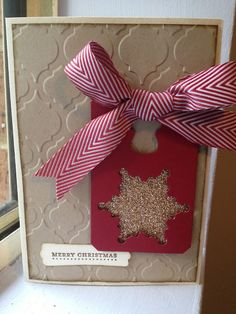 Linda Higgins: It's All about the ribbons - a very Chevron Christmas