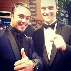 Taylor Kinney and Jesse Spencer | Golden Globes 2014 | Chicago Fire