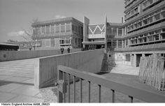 AA98/06623 General view of Acland Burghley School from the entrance gates. Acland Burghley School, Tufnell Park, Greater London Authority, NW5 Date 1960 - 1969 Photographer: Eric De Mare