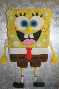 Easy Spongebob cake pattern To buy pattern visit www.bake-my-cakes.com