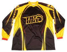 2012 Nema Podium race jersey (Black/Yellow). The year's most wanted downhill mountain bike jersey, also available in youth sizes! Great gift for guys! $39.99 sale price use code PINNER40 at checkout http://shop.nemacycling.com/podium-jersey/ #mtb #nema #bike #jerseys