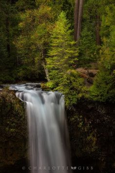 Waterfall (Oregon) by Charlotte Gibb / 500px