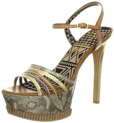 afe349a62a9d Jessica Simpson Womens Skye Platform SandalGold Combo95 M US    Click on  the image for