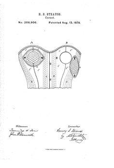 1878 Nursing corset  US patent 206,906  button closure