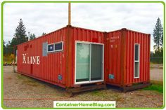 Two forty foot shipping containers were used to build this Shipping Container Home in Pablo, Montana