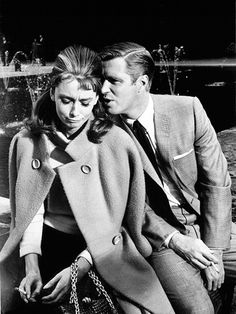 Audrey Hepburn and George Peppard filming Breakfast at Tiffany's, in New York, 1960.