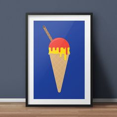 Ice Cream Pop Art/Modern Art Giclée print by ArkStudioDesigns