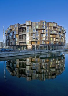 #Reflection caught by water for apartment building? Best #Copenhagen Architecture and Design Sights Photos | Architectural Digest for #Denmark