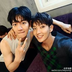 160705 Actor Lee Joon Gi Weibo Update with Baekhyun   cr: 李准基  -JD