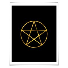Pentagram Art Print. Gold Foil Print. 36 Colours/3 Sizes. Geometric Art. Occult Wall Art. Witch Wicca Art Print