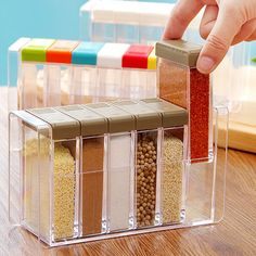 Transparent Plastic 6 Case Seasoning Box-12.90 and Online Shopping | GearBest.com Mobile