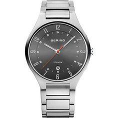 Mens BERING Brushed Grey Tone Watch - 11739-772