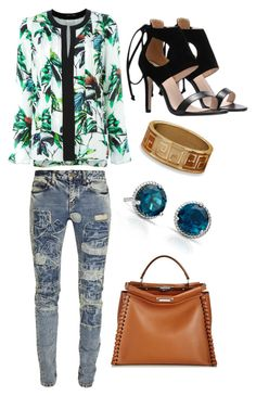"""""""Untitled #716"""" by meryem-mess ❤ liked on Polyvore featuring Blue Nile, Yves Saint Laurent, Proenza Schouler, Fendi and BillyTheTree"""