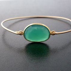Faceted onyx stacking bangle
