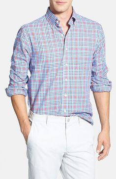 Vineyard Vines 'Tavern Island' Slim Fit Plaid Sport Shirt available at Plaid Fashion, Mens Fashion, Fashion Outfits, Mens Designer Shirts, Cut Shirts, Sports Shirts, Mens Clothing Styles, Vineyard Vines, Poplin