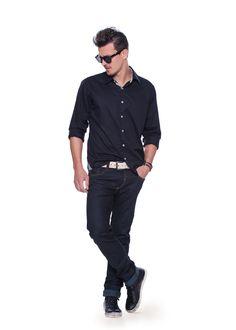 Damyller Inverno 2013 Camisa de botão cor legal caimento tbm