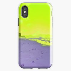 """""""Beautiful day on a sandy beach with yellow sky - new lenses, new World"""" iPhone Case & Cover by Artlajf   Redbubble Sky New, Yellow Sky, Ipad Pro, Ipad Mini, Strand, Beautiful Day, Iphone Case Covers, Iphone 11, Beach"""