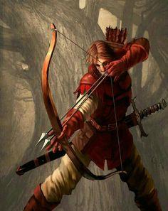 Fighter Archer - Pathfinder PFRPG DND D&D d20 fantasy