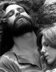 Jim Morrison and Pamela Courson.