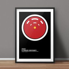 2001: A Space Odyssey Poster, Movie Poster, Minimalist Poster, Flat Poster Design, Clean Poster Design, Digital Poster, Printable Poster