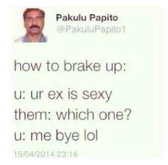 How to brake up