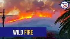 WATCH: Fire rages through Paarl mountains