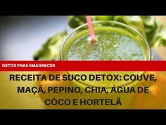 Receita de Suco Detox Couve, Maçã, Cenoura, Pepino, Chia, Água de Coco e Hortelã - YouTube