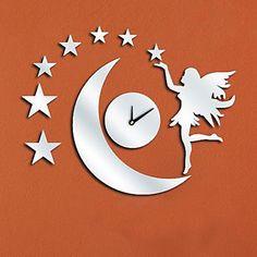 Reloj de Pared Espejo Hada Luna   Relojes de Pared