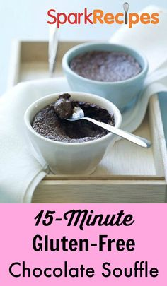 Try this on Valentine's Day for a light but decadent dessert! | via @SparkPeople #food #recipe #chocolate #diet
