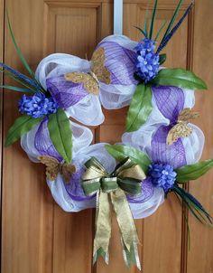 Purple Hyacinths Spring/Easter Wreath by justwreathsbysusan