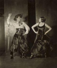 "Rudolph Valentino and Natacha Rambova for Metro's ""The Four Horsemen of the Apocalypse"" in 1921. (James Abbe)"