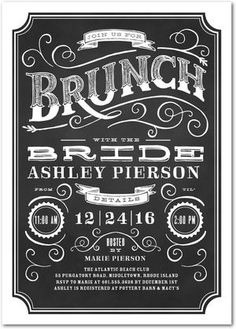 BRIDE BRUNCH
