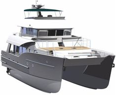 Explore NORTH ISLAND TRAWLER yacht for sale; through beautiful photos and a full walk-through description of this impressive North Island Trawler Catamaran. Trawler Yachts For Sale, Trawler Boats, Yacht Design, Boat Design, Yacht For Sale, Boats For Sale, Explorer Yacht, Power Catamaran, Build Your Own Boat