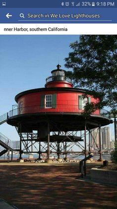 Round Red Lighthouse - Michigan