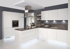 Duo white matt/Rio dark oak white kitchen from Kutchenhaus
