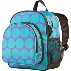 Big Dot Aqua Pack 'n Snack Backpack